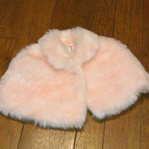Janie and Jack faux fur cape size 3-4